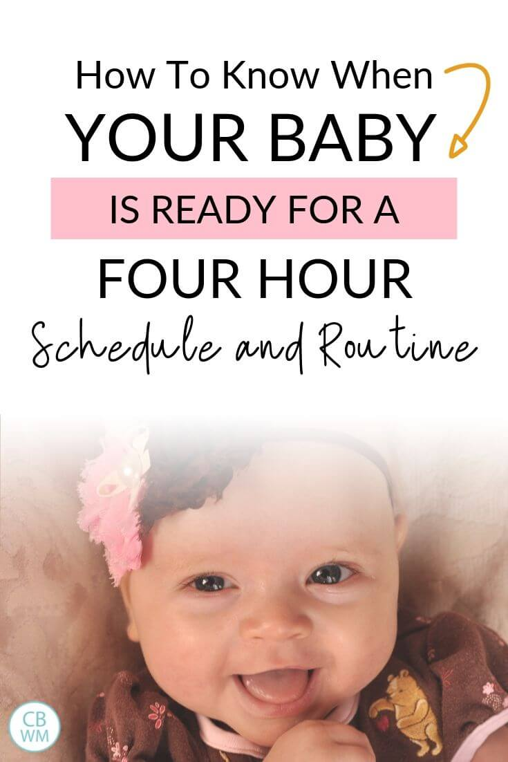 Baby Ready for a Four Hour Schedule Pinnable Image