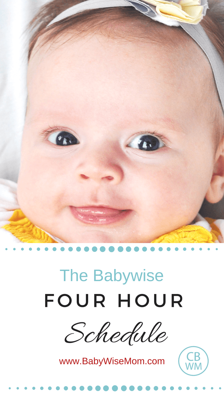 Babywise 4 Hour Schedule Pinnable image