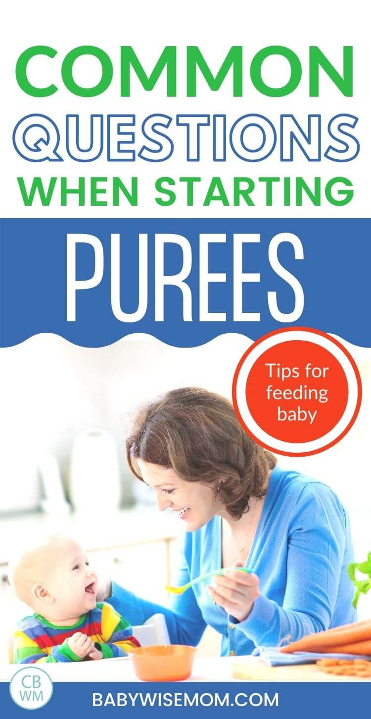 Common questions when starting baby on purees