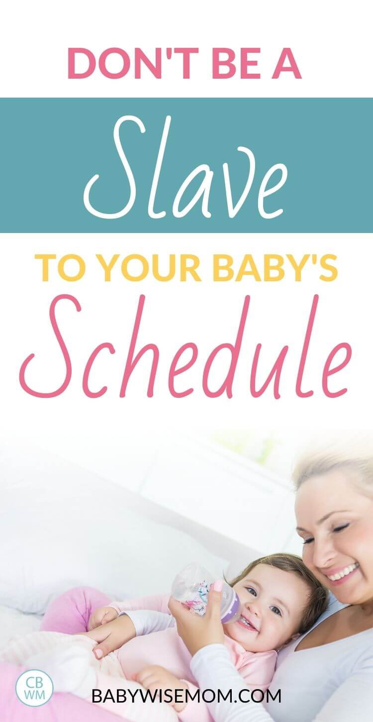 Don't be a slave to your schedule pinnable image