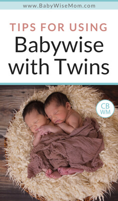 Babywise and Twins. Tips from three Babywise twin moms about how to do the Babywise schedule with twins.
