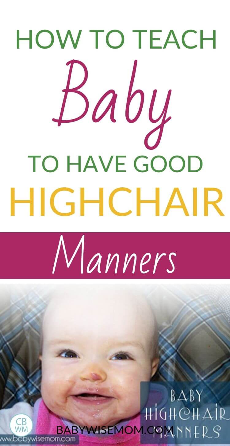 Baby High Chair Manners Pinnable Image