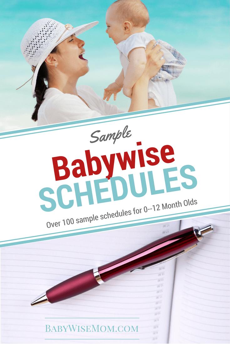 Babywise Sample Schedules 0-12 Months