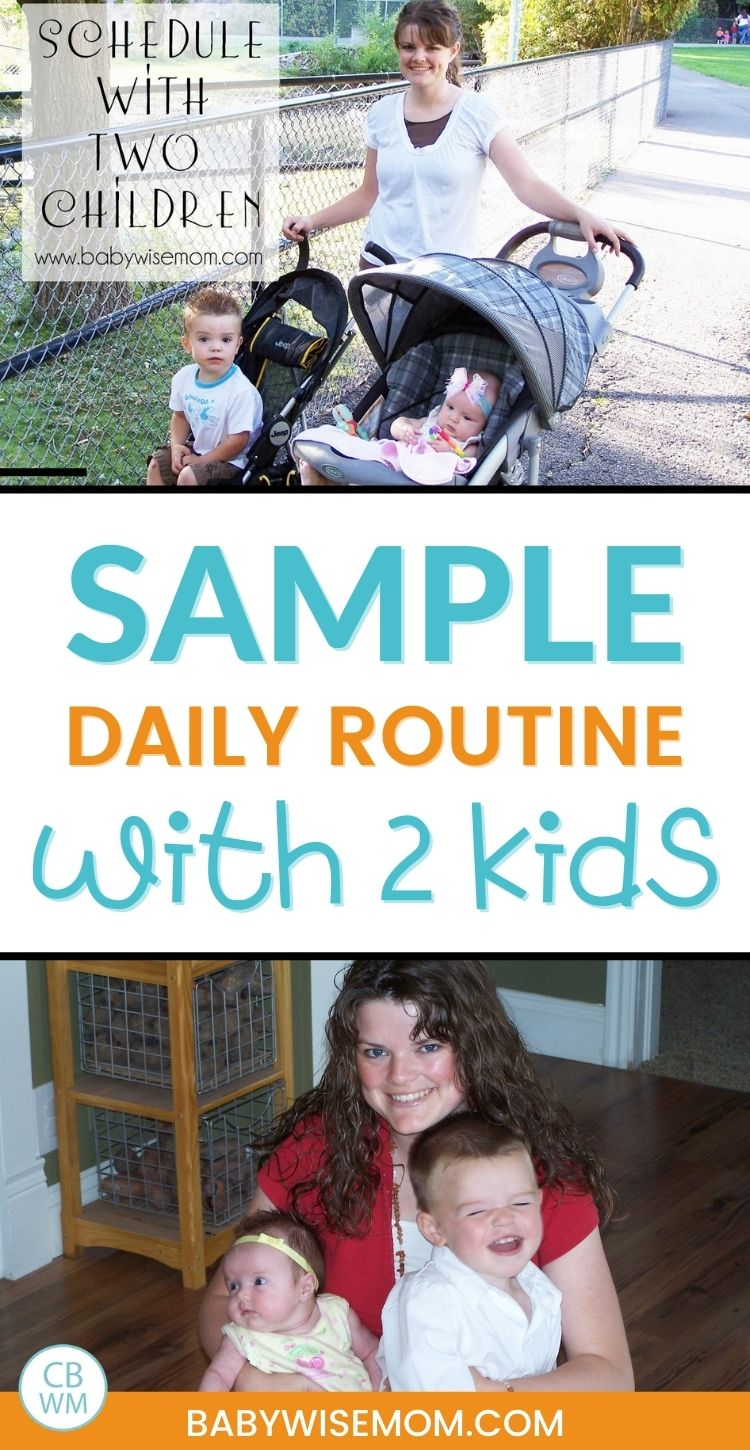 Sample daily routine with 2 kids