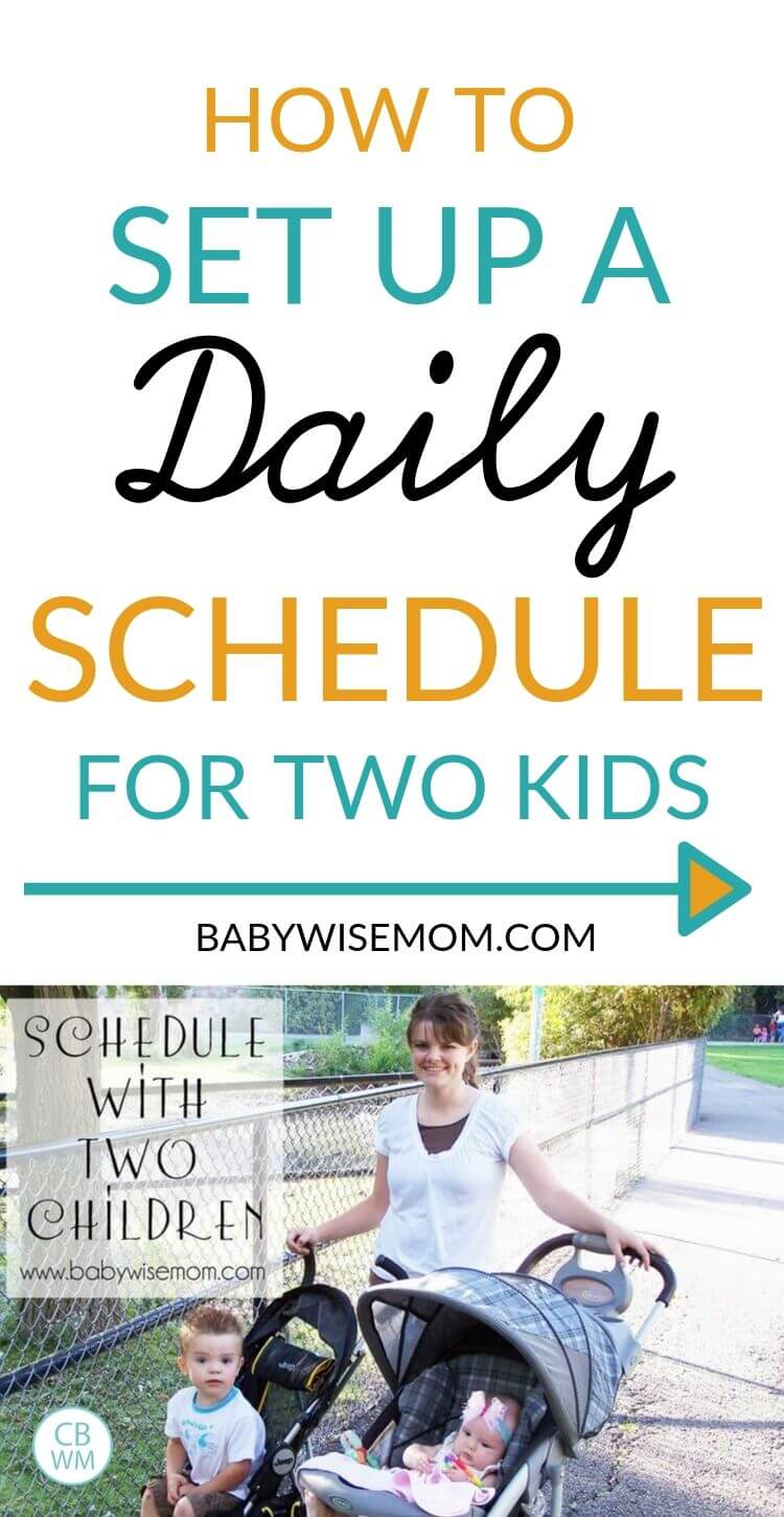 Schedule with two kids Pinnable Image