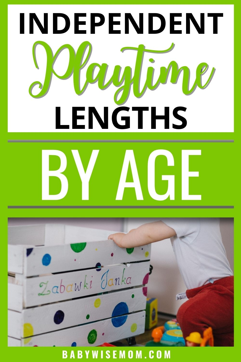 Independent playtime lengths by age