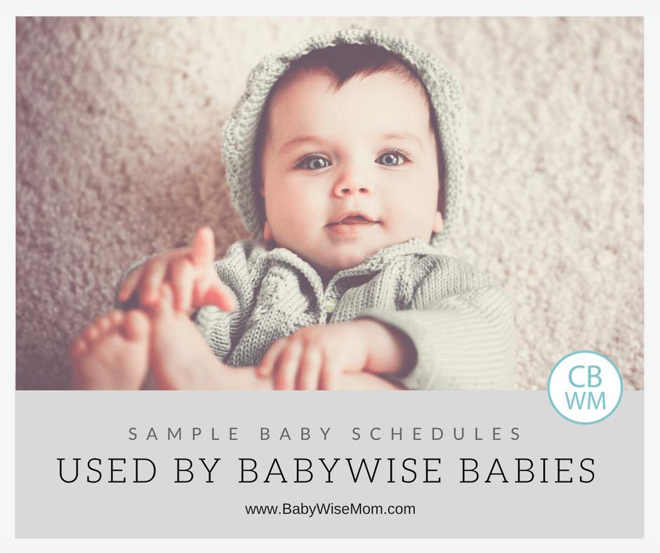 Baby schedules