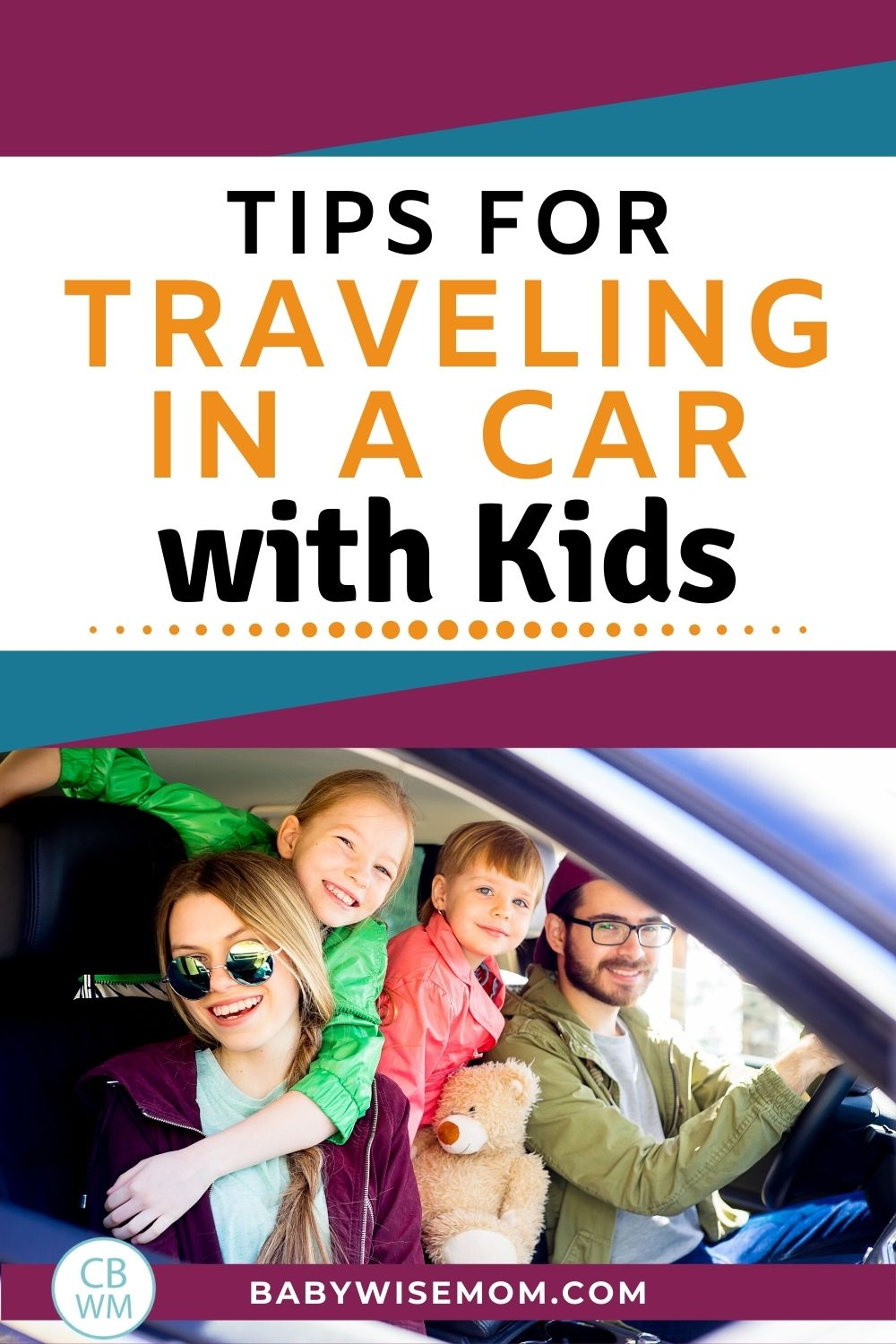 Tips for traveling in a car with kids