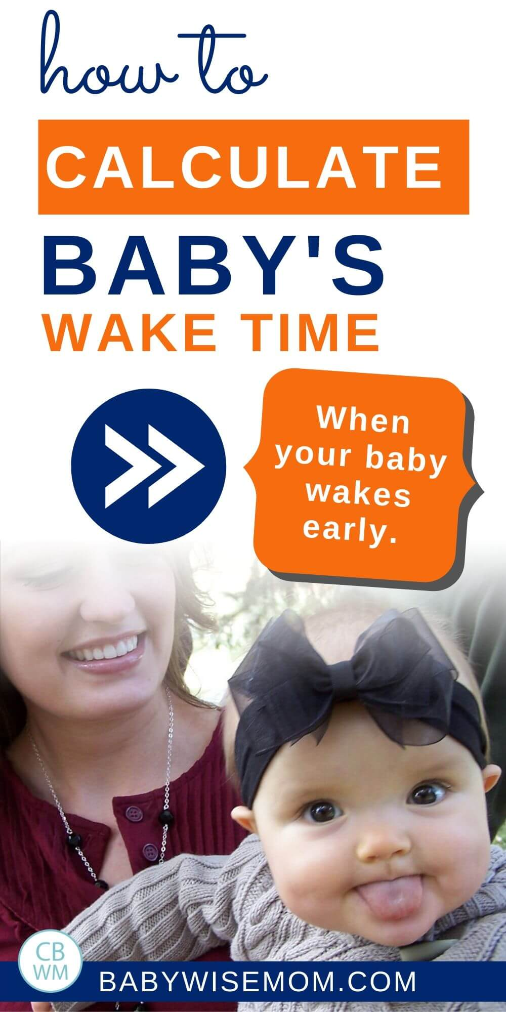 How to calculate baby's wake time when baby wakes early pinnable image