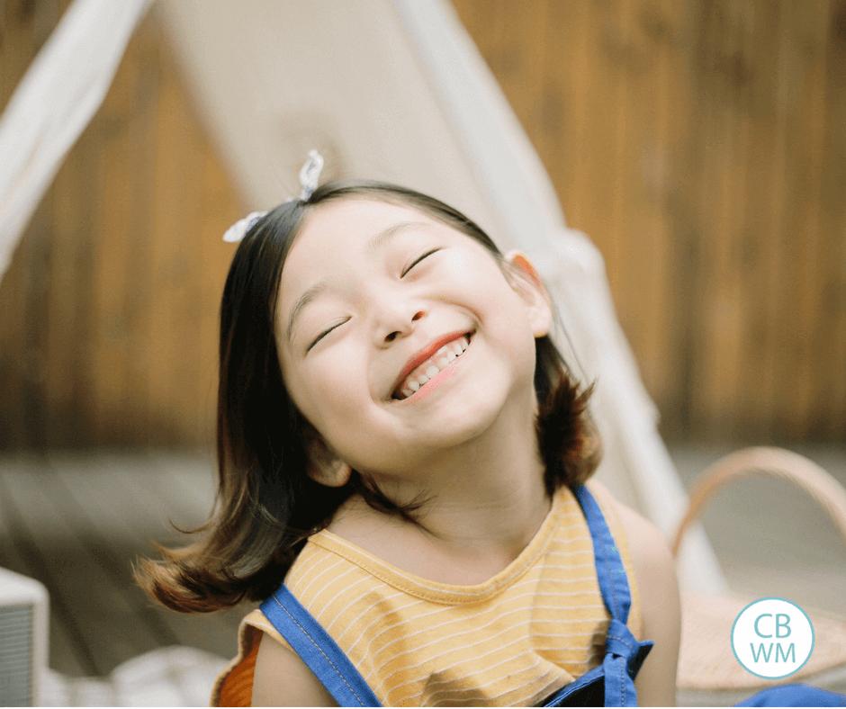 Preschooler smiling for the camera