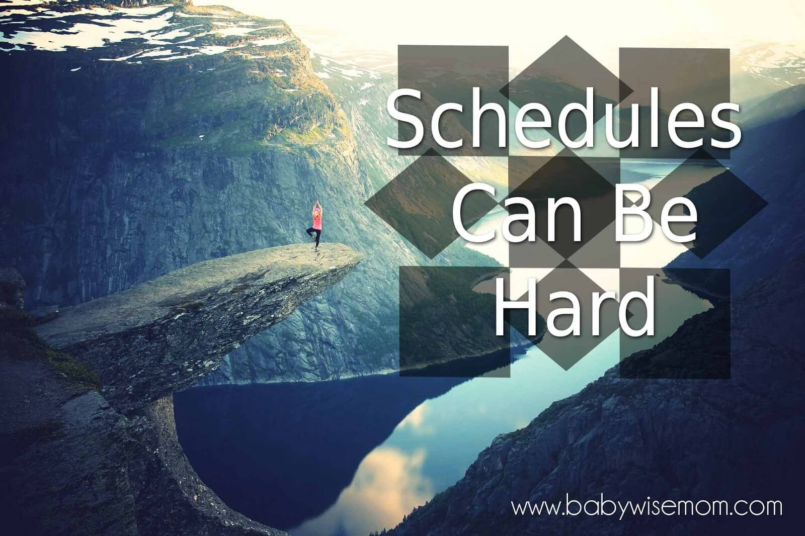 Parenting on a Schedule Can Be Hard. There can be rules to follow. You don't go anywhere you just feel like it. Even so, the difficulty is worth the benefits of a schedule.