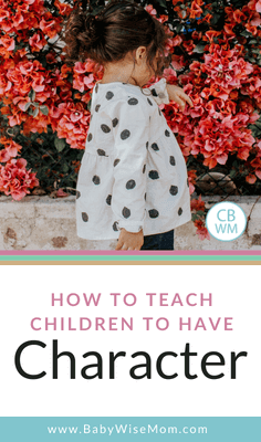 How to teach children to have character. Tips from the book On Becoming Childwise to help you develop character in your child and why you should care about character training.