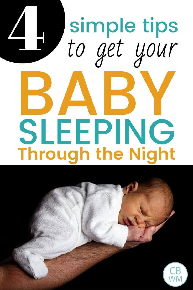 Tips to get baby sleeping through the night Pinnable Image