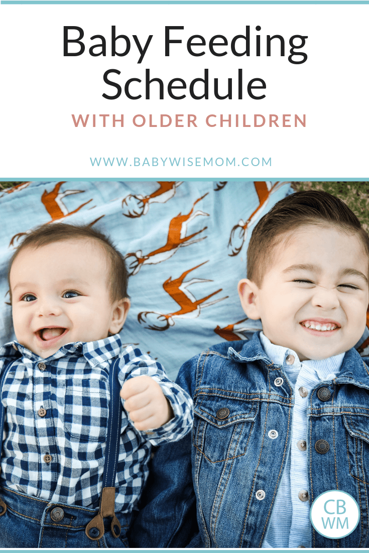 Baby Feeding Schedule with Older Child(ren). When and how to fit in feeding a baby when you have older children.