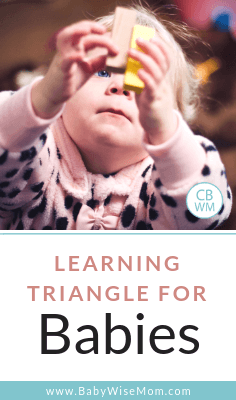 Learning Triangle for Babies. Know what your baby is capable of focusing on and learning developmentally so you don't overwhelm baby.