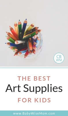 Best art supplies for kids and a picture of colored pencils
