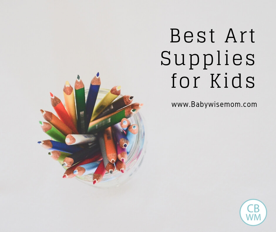 Best art supplies for kids and picture of colored pencils