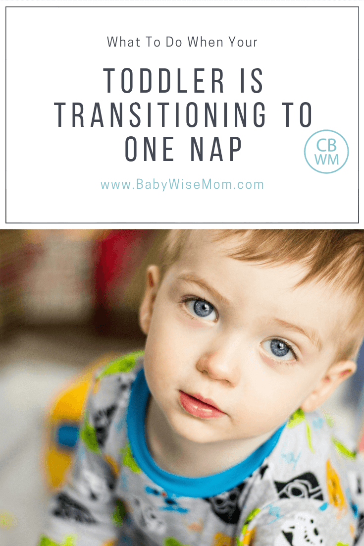 What to do when your toddler is transitioning to one nap with a picture of a toddler looking at the camera