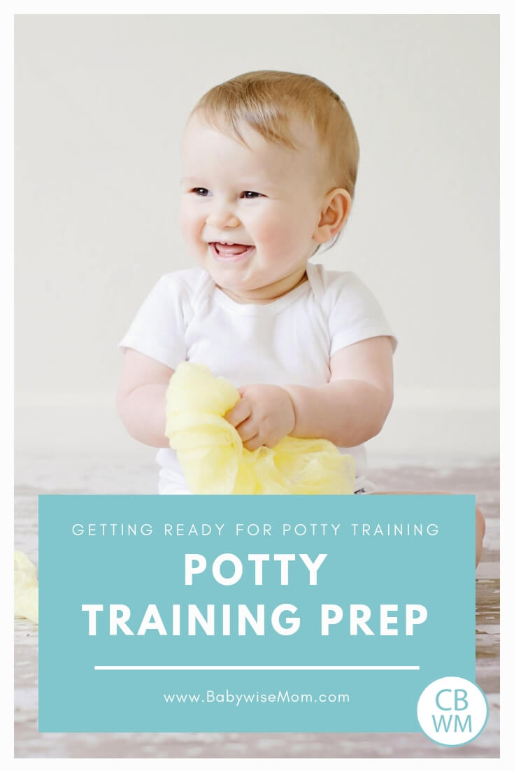 Potty Training Prep. When your little one is not quite ready for full potty training but wants to start working on the skill with a picture of a cute pretoddler