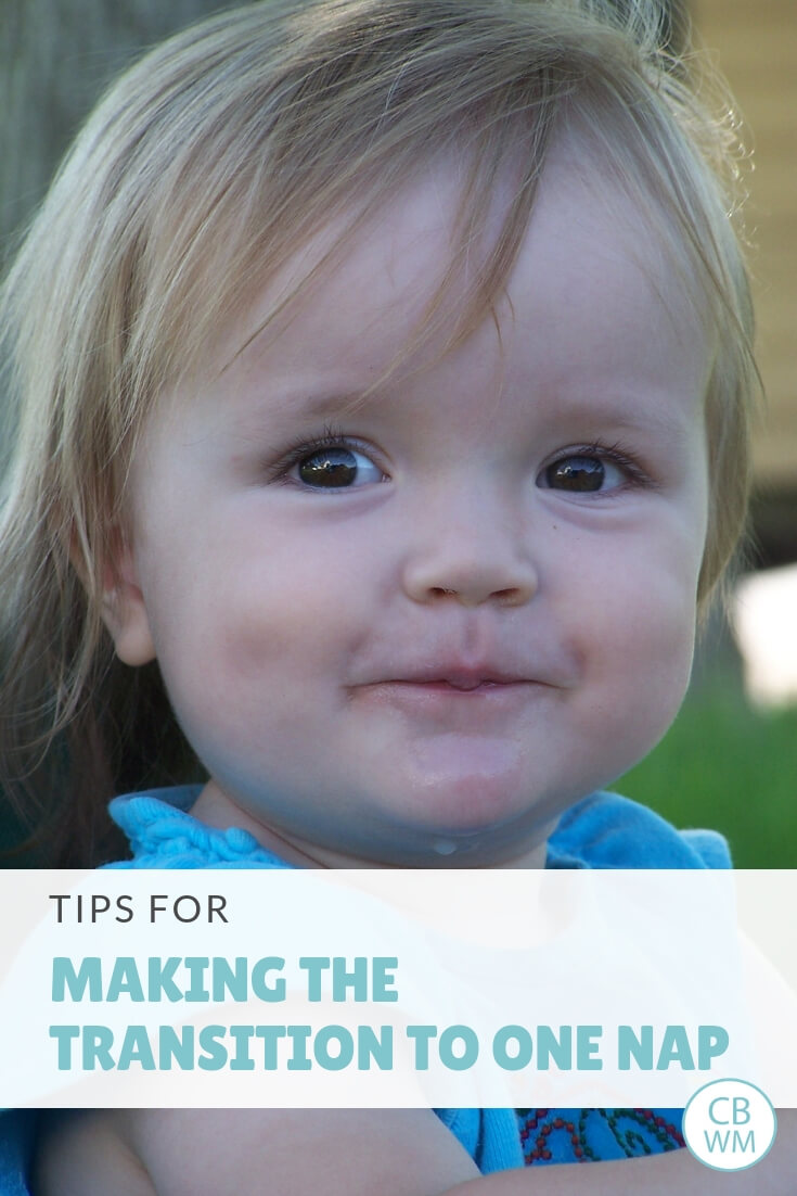 When do babies drop to one nap. How to drop the morning nap and what it looks like with a Babywise baby. How to make the transition to one nap smooth.