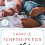 Sample Babywise schedules for two children. What Babywise looks like when you have more than one child. Schedules used by my toddler and newborn.