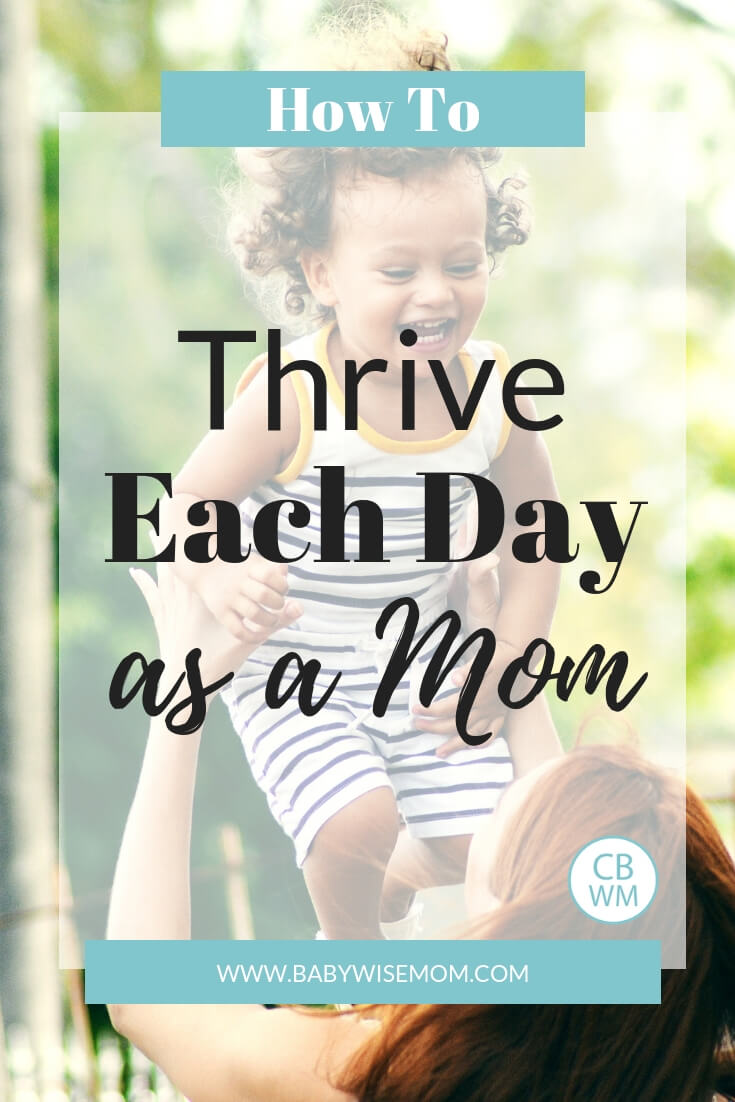How to thrive each day as a mother. Tips to do more than just survive.
