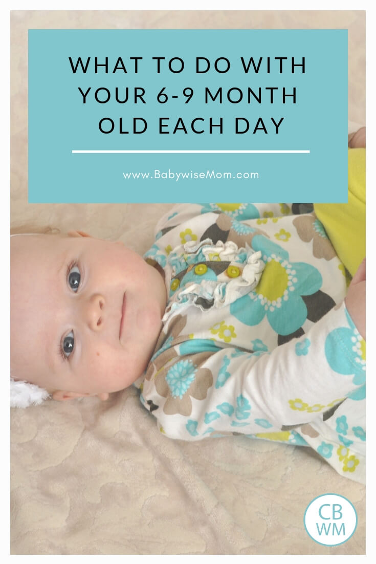 More Than Making it Through the Day with your 6-9 month old. What to do each day with your 6-9 month old baby. Do more than just survive!