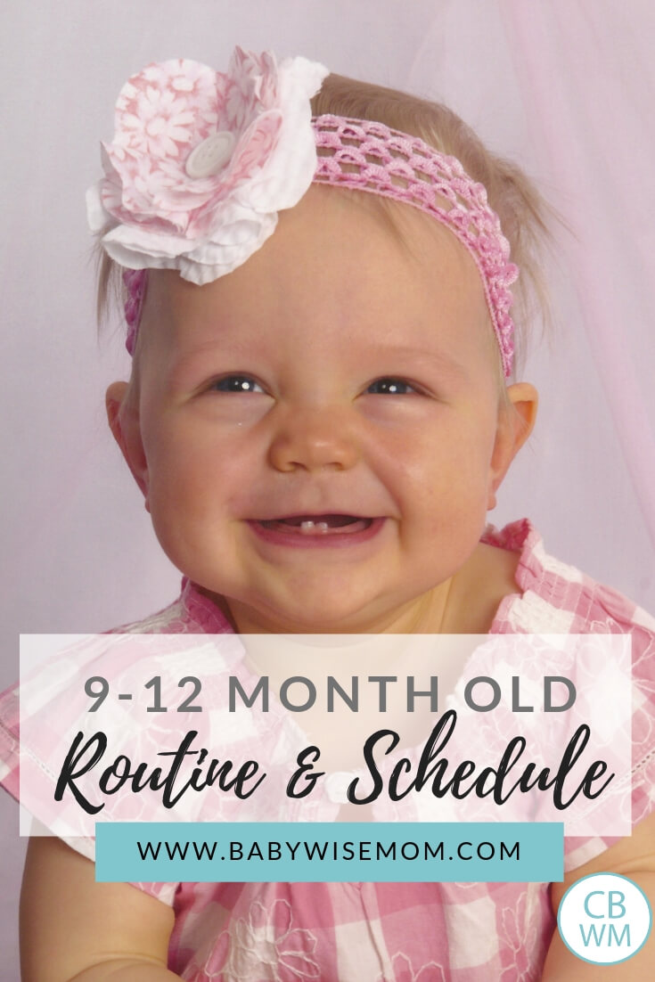 9-12 month old routine and schedule. What to do each day with your little one.