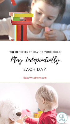 The benefits of having your child play independently each day. Independent play | #playtime