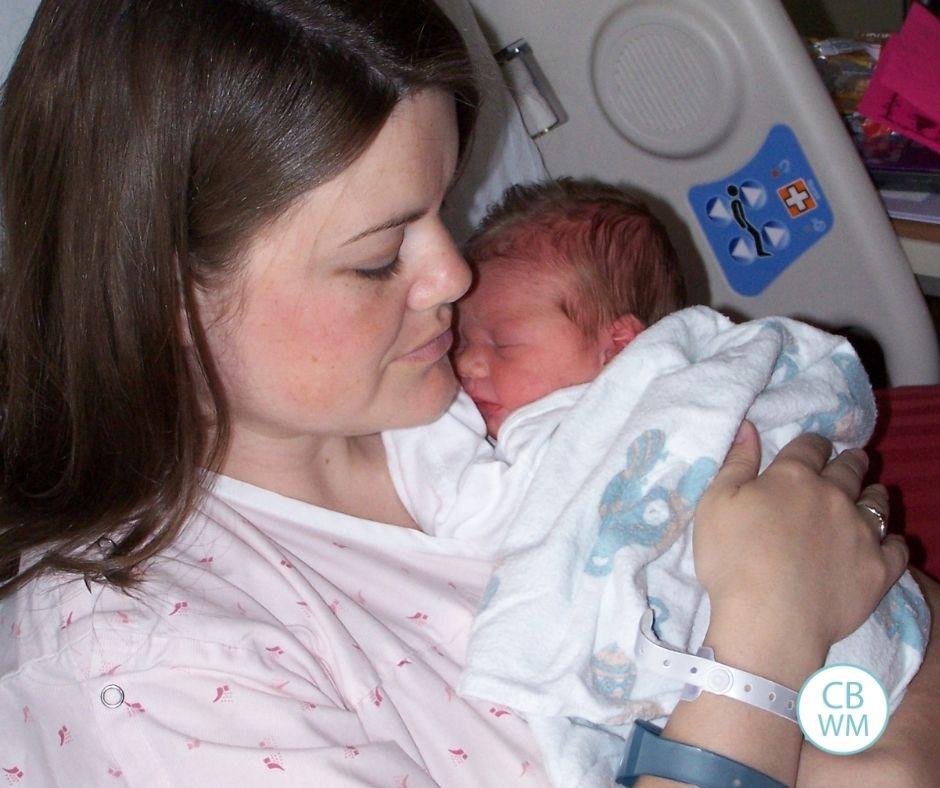 McKenna as a newborn
