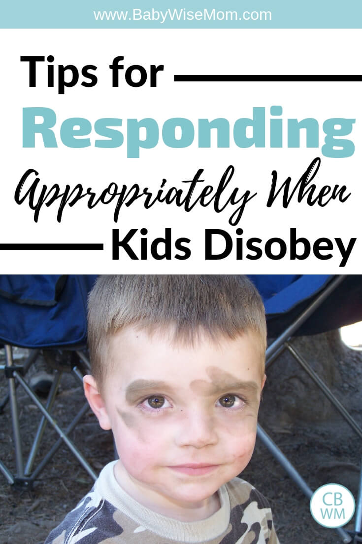 Tips for responding appropriately when kids disobey