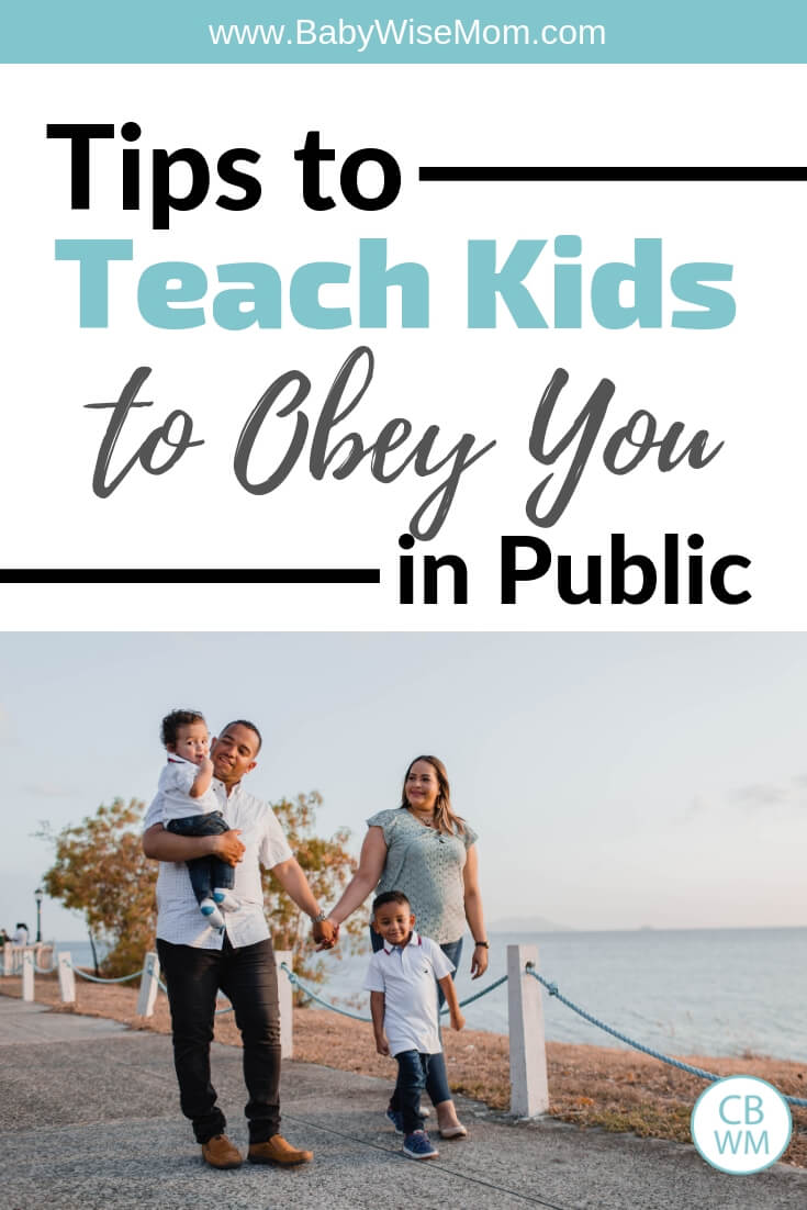 Tips to teach your children to obey you in public. Get kids to listen to you.