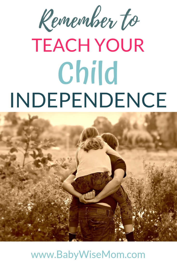 Why you should teach your child independence with a picture of a girl getting a piggy back ride