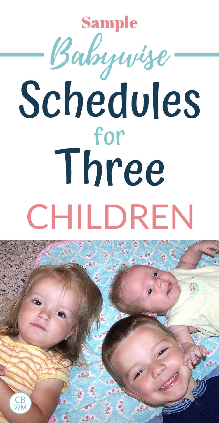 Image of three children with text overlay about sample schedules