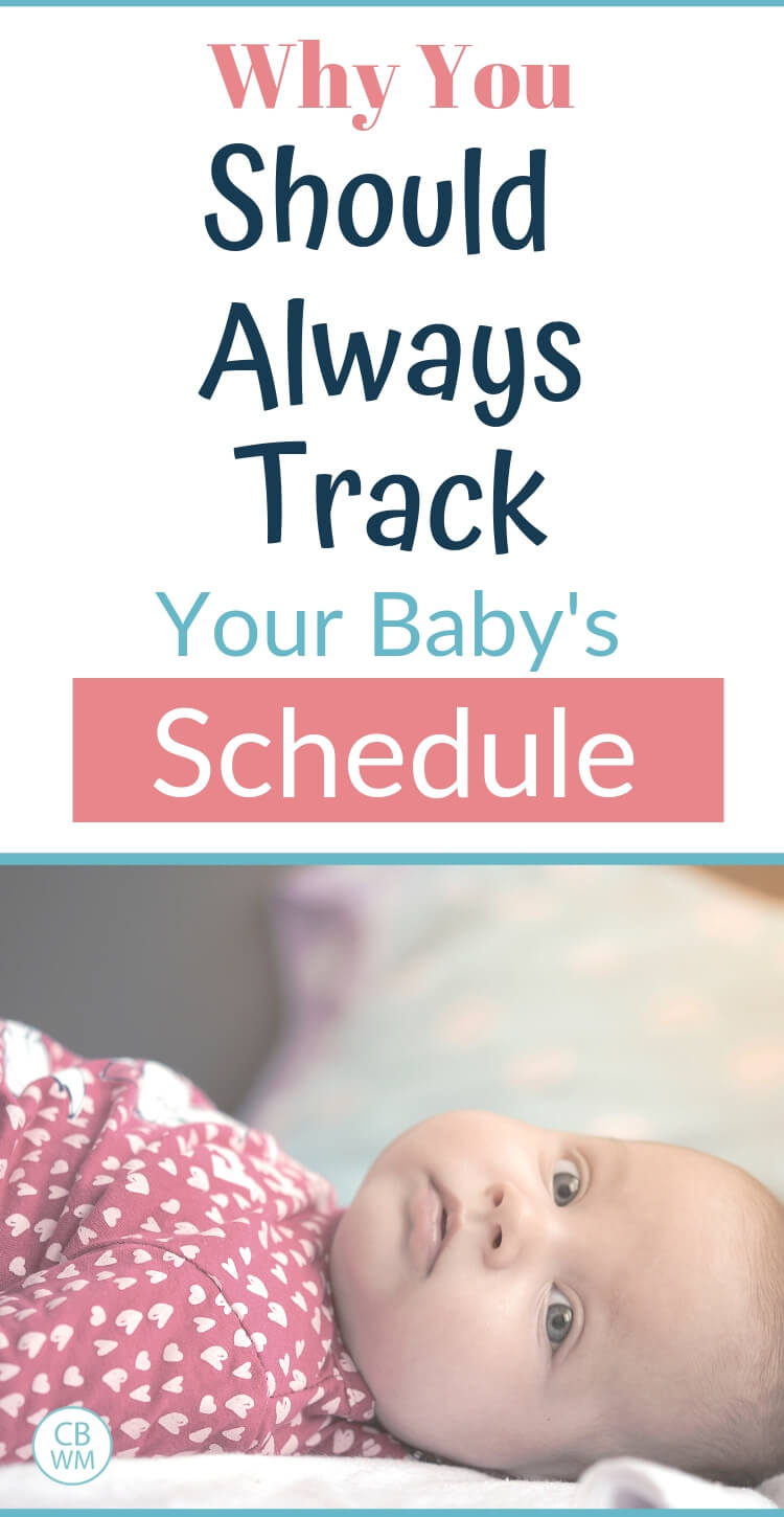 Why you should always track your baby's schedule and picture of a baby in a pink outfit