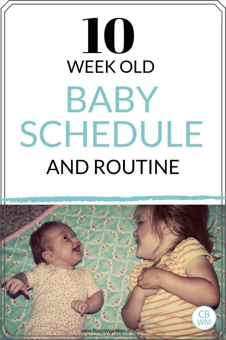 10 week old baby schedule pinnable image