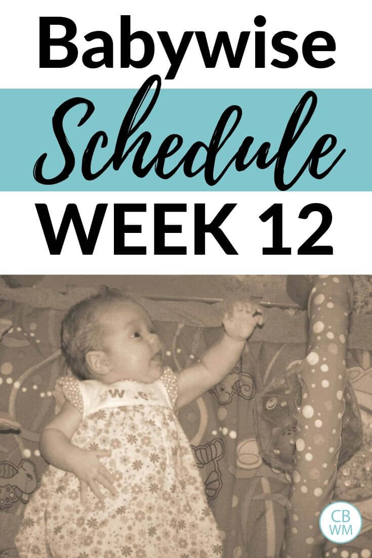 Babywise schedule week 12