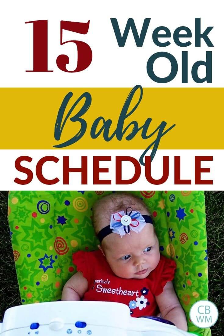 15 week old baby schedule pinnable image