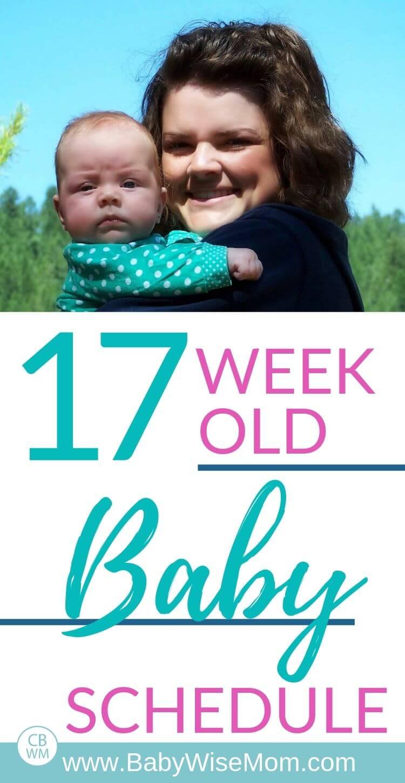 17 week old baby schedule pinnable image