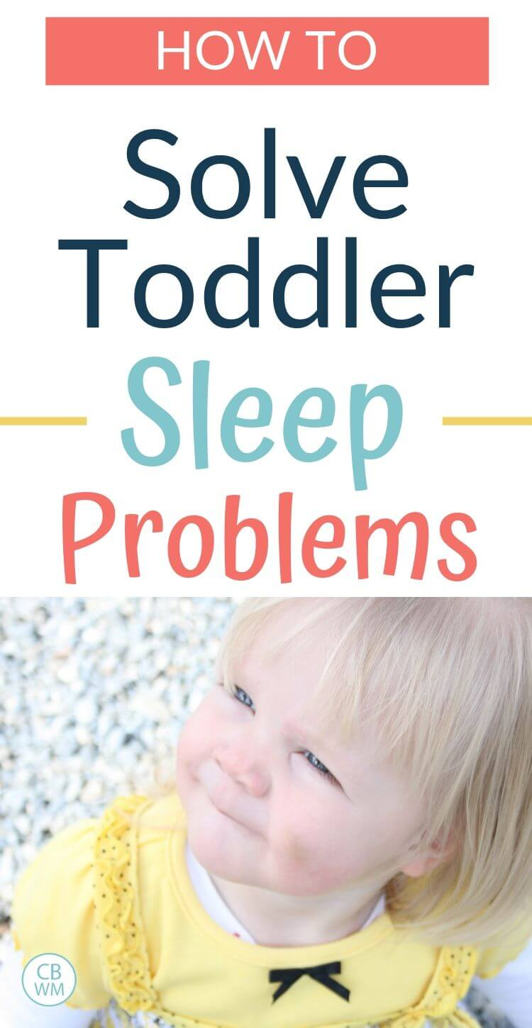 How to solve toddler sleep problems pinnable image