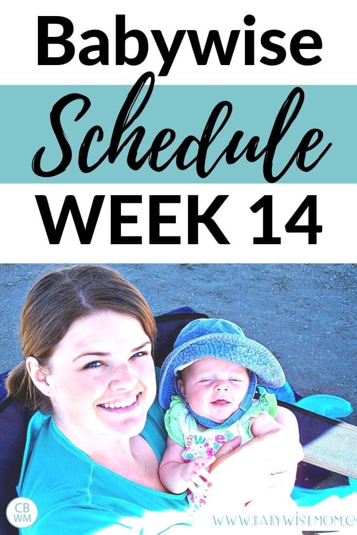 Babywise Schedule Week 14 pinnable image
