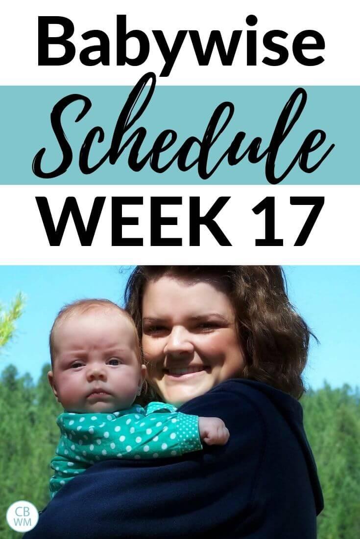 Babywise Schedule Week 17 pinnable image