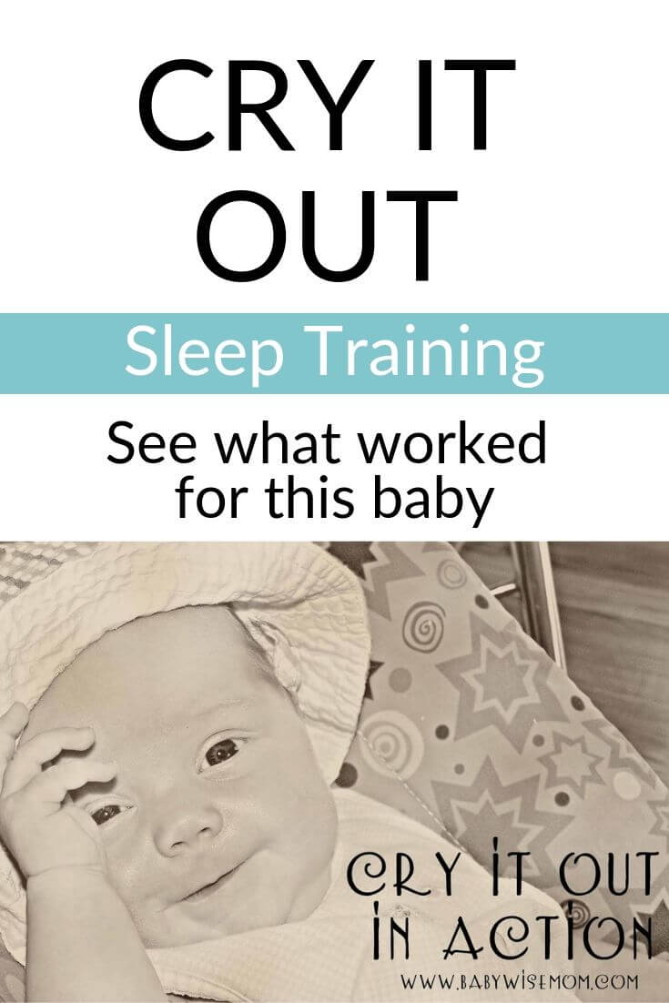 Cry it out sleep training pinnable image