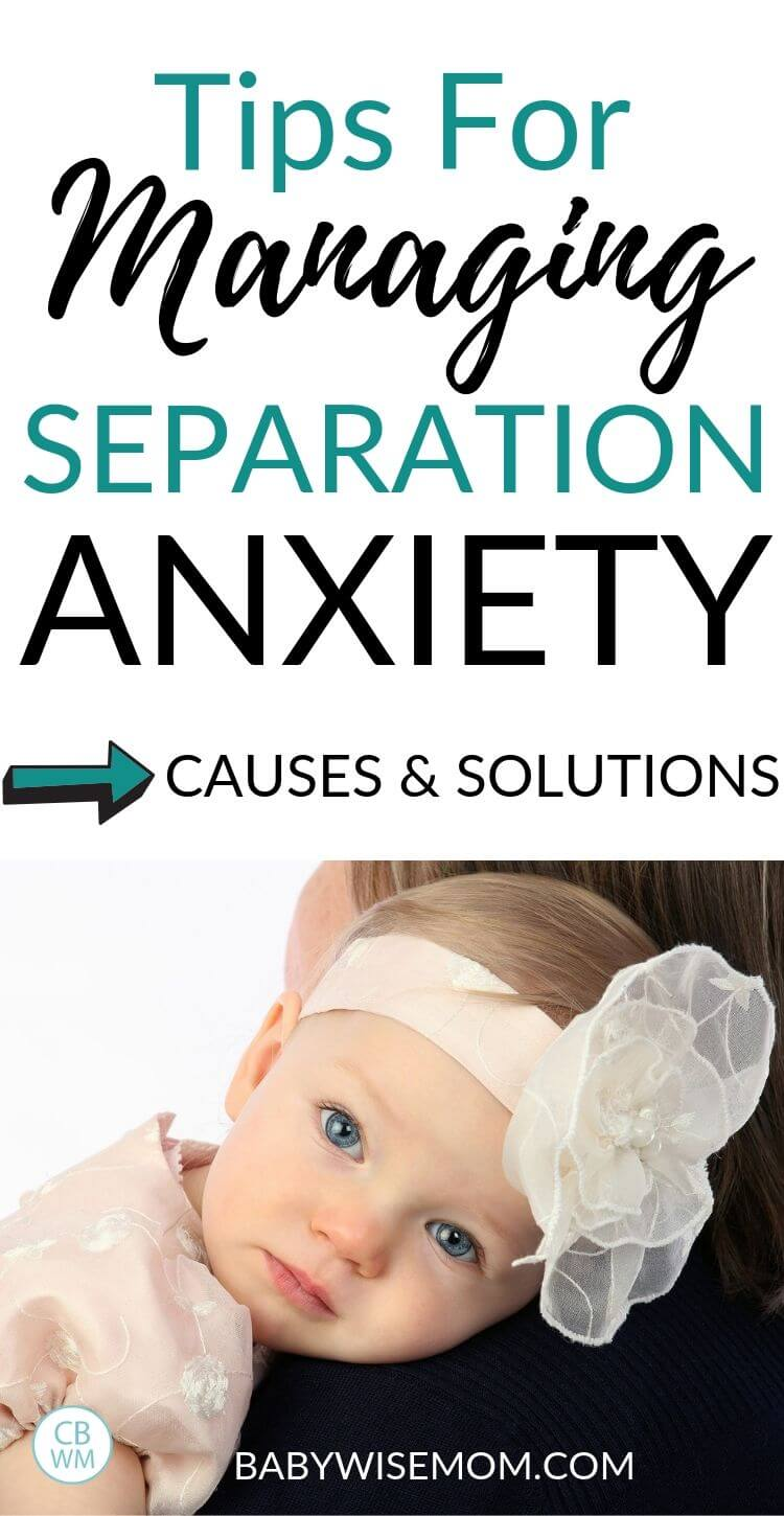 Tips for Managing Separation Anxiety pinnable image