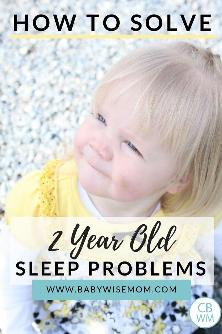 How to solve 2 year old sleep problems pinnable image