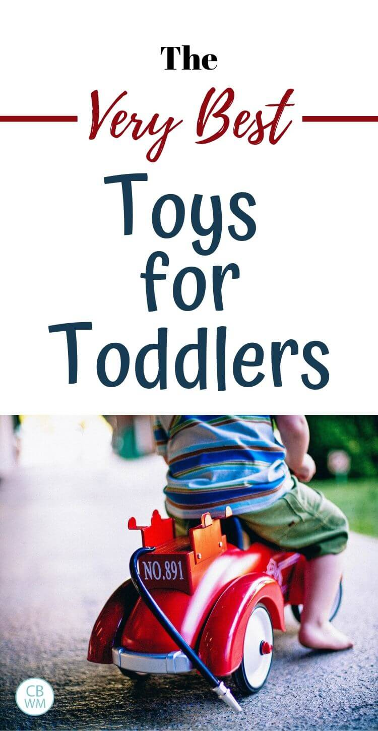The very best toys for toddlers pinnable image
