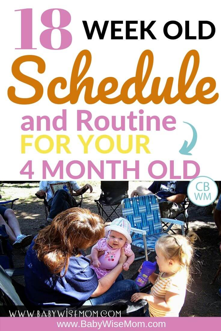 18 week old schedule and routine pinnable image