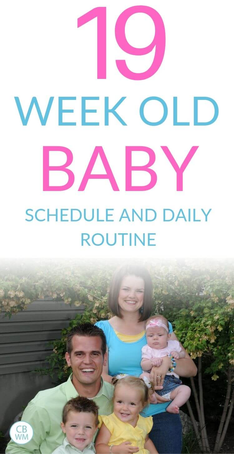 19 week old baby schedule Pinnable Image