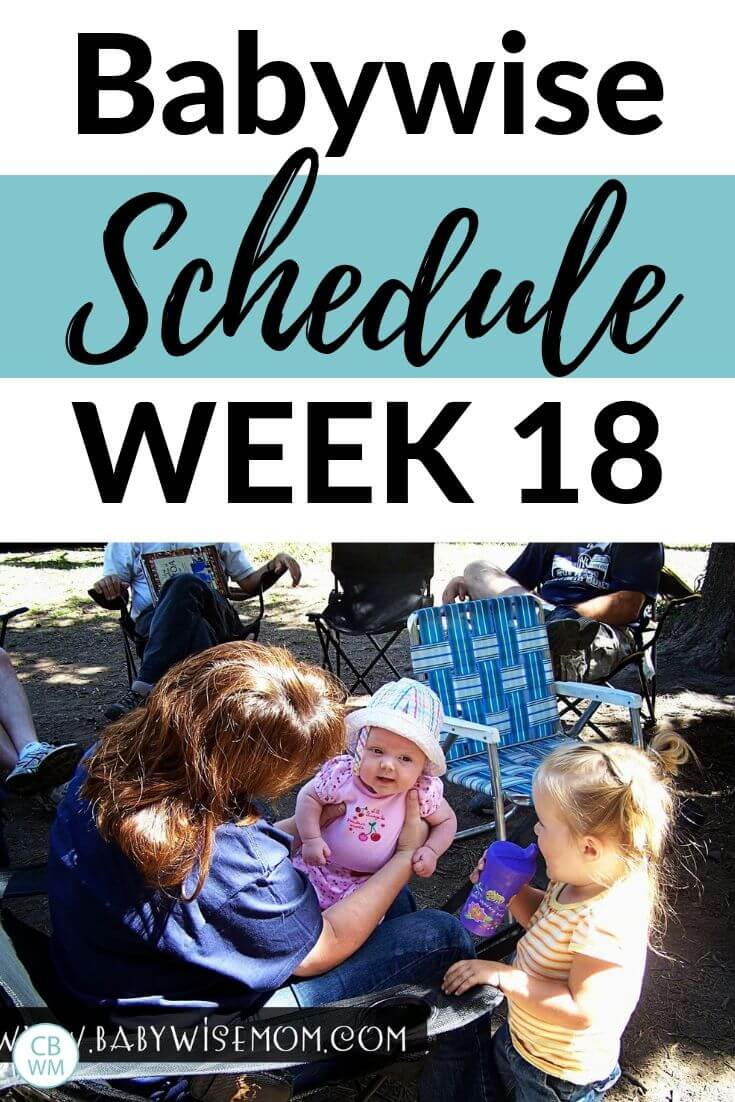 Babywise Schedule week 18 pinnable image