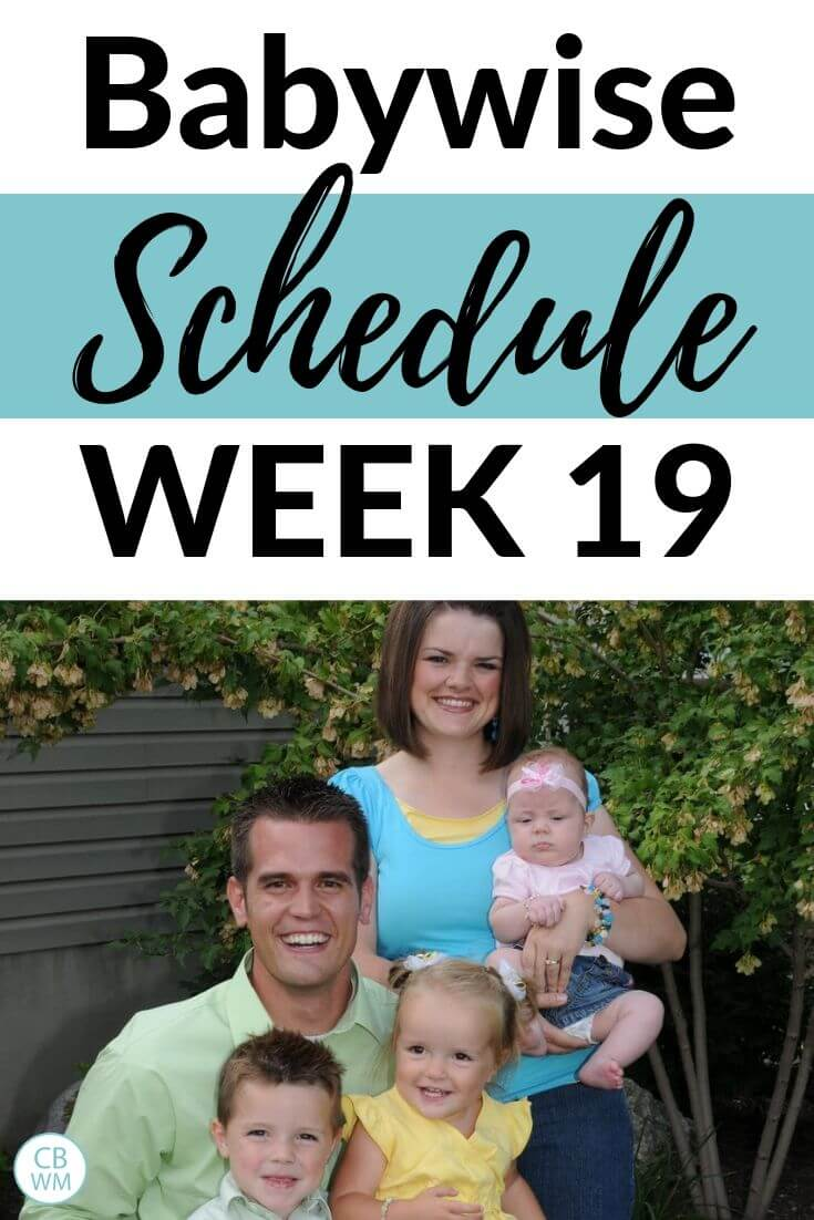 Babywise schedule week 19 Pinnable image